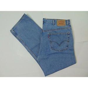 Levi's 505 40 X 32 Regular Fit Blue Jeans Denim